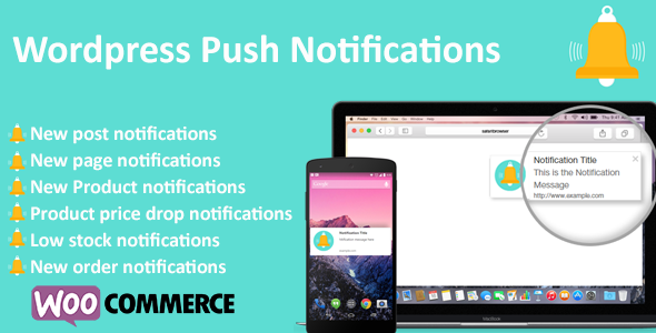 WordPress Push Notifications – WooCommerce Push Notifications