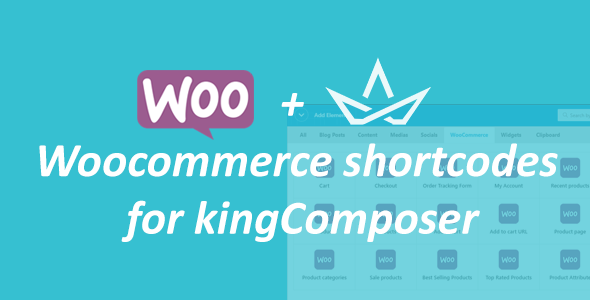 WooCommerce Shortcodes For KingComposer